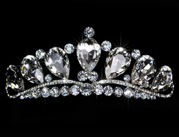 Wholesale Big Bridal Crowns - 2017 High Quality Big Rhinestone Crystal Stunning Shinny Bridal tiara Pageant Tiara Crown 004 Bridal Accessories