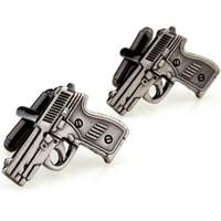 Wholesale Gun Brass - Gun Shaped Cufflinks. Men's Fun cuff links  Fashion Accessories.