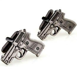 Gun Shaped Запонки. Мужские Fun запонок / Модные аксессуары. от Поставщики пушка связи