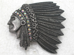 $enCountryForm.capitalKeyWord Canada - Wholesale Crystal Rhinestones Indians Chief Head Brooches Fashion Costume Pin Brooch Jewelry gift C703