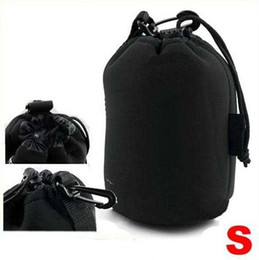 camera pouches Promo Codes - Waterproof Neoprene Soft Camera Lens Pouch bag Case Size S 10pcs