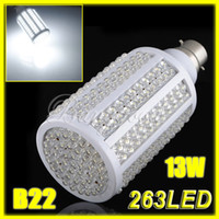 Wholesale E27 13w Energy Saving - B22 E27 263 LED 13W Pure White Bayonet Energy Saving Light Lamp Bulb 1200LM 85-265v
