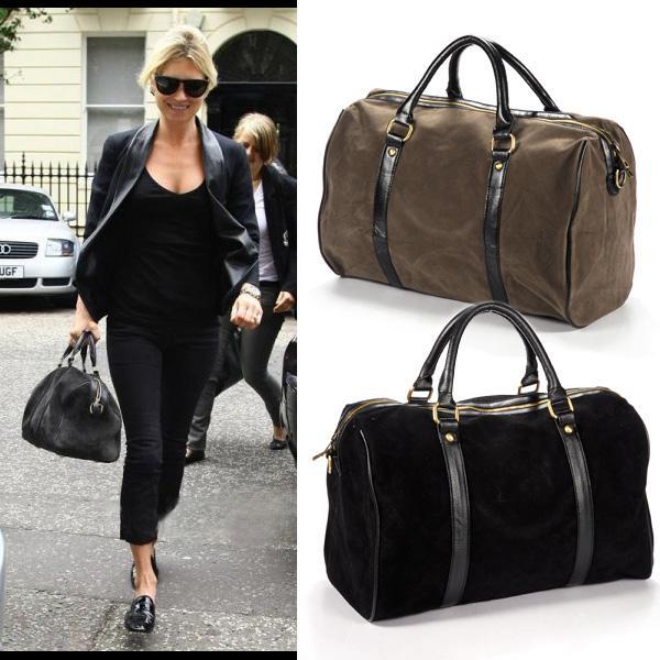 Kate s choice Celebrity Faux Suede Shoulder Bag women Handbag tote black  duffle 5f1ac35ee4