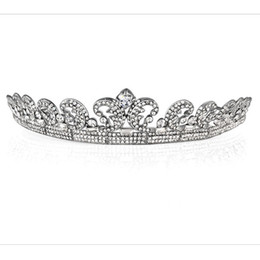 Wholesale Crown Picture - 2017 Free Shipping In stock 100% Same As Picture Wedding Headpieces Rhinestone Crystal Wedding Bridal Tiara