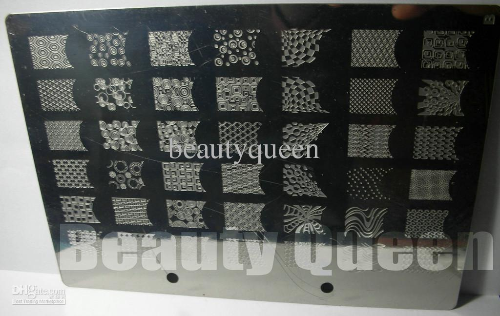 11 Style Nail Art XXL Stamp Stamping Image Plate BIG Design Modello di stampino francese grande stampa # A-K