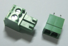 $enCountryForm.capitalKeyWord NZ - 20 pcs 2pin way Pitch 3.81mm Screw Terminal Block Connector Green Color T Type with pin