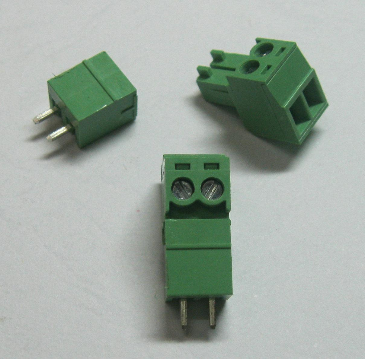 120 Pcs Green 2pin 3.5mm Screw Terminal Block Connector Pluggable Type High Quality HOT Sale