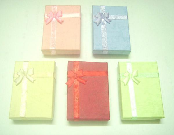 / parti 5x7x1.6cm mix färger smycken presentförpackningar för hängande förpackning display bx3