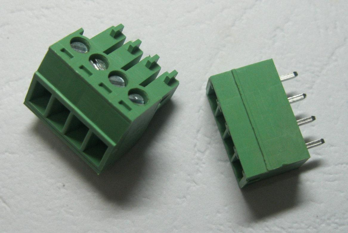 30 Pcs Green 4pin 3.5mm Screw Terminal Block Connector Pluggable Type High Quality HOT Sale