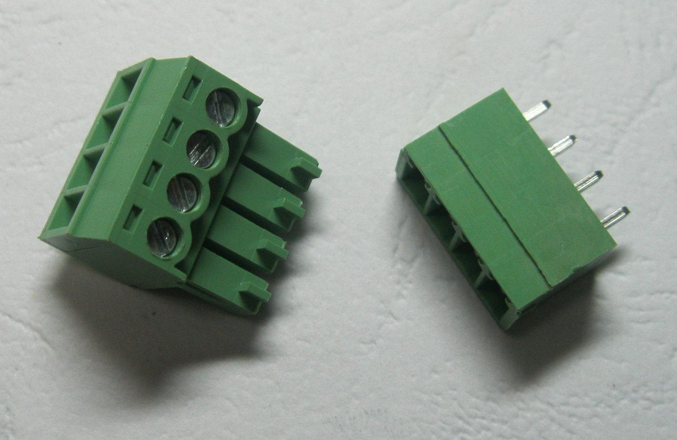 120 pezzi Verde 4 pin 3,5 millimetri morsetto a vite Blocco connettore Pluggable Tipo di alta qualità di vendita CALDA