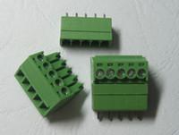 tipos de conectores terminales al por mayor-120 Unids Verde 5pin 3.5mm Tornillo Bloque de Terminales Conector Tipo Enchufable Venta CALIENTE de Alta Calidad