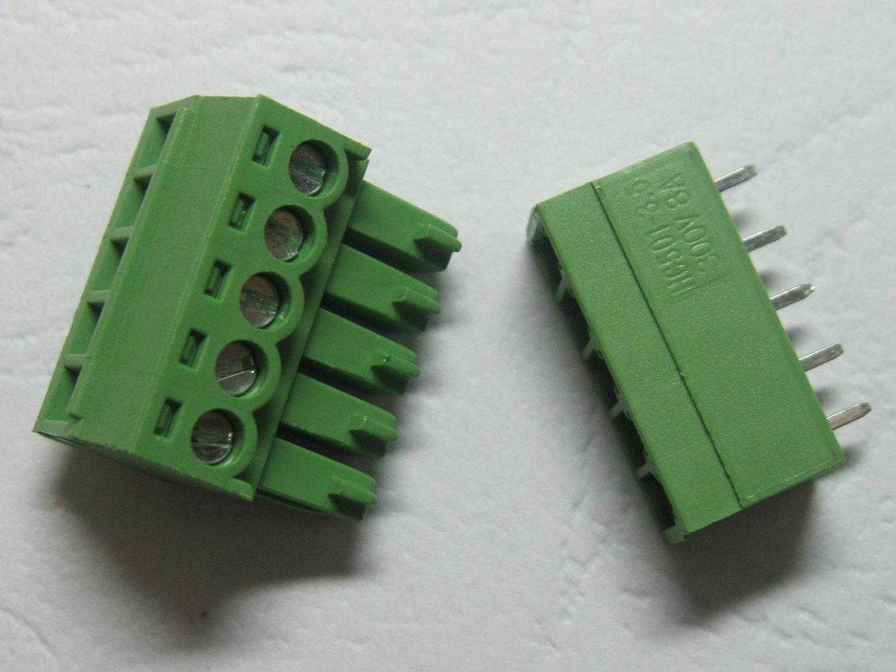 30 Pcs Green 5pin 3 5mm Screw Terminal Block Connector Pluggable Type High  Quality HOT Sale