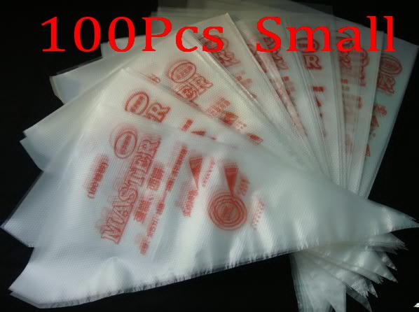 100 pcs 17*30Cm S Size Cake extrusion platic bags decorating supplies bag icing pin kitchen new