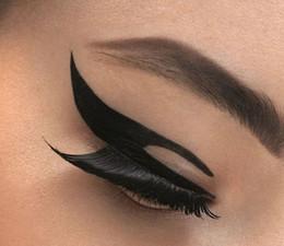 Olho adesivos eyeliner on-line-500set / lot Olho Tatuagem adesivo Eye liner Sticker Sombra Adesivo Smoky Eyes Sticker delineador preto