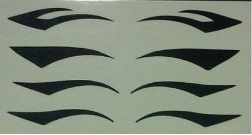 / mokey Eyes Aufkleber schwarz Eyeliner Eye Tattoo Aufkleber Eyeliner Aufkleber Shadow Sticker