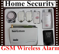 Wholesale Security Products Alarm - Free Shipping GSM Wireless Home Security Alarm System Security surveillance products kit from D.K