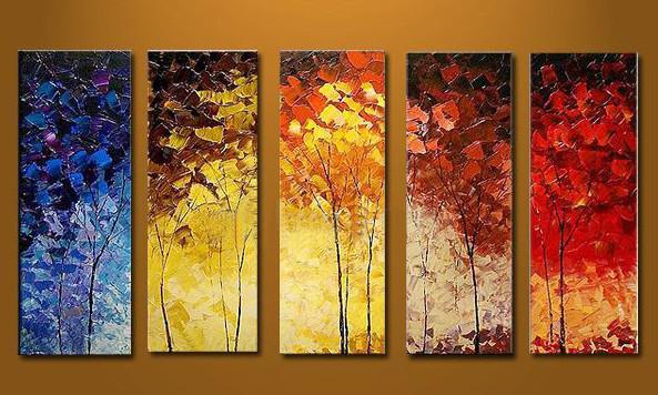 Étiré abstrait Paysage Couteau peinture à l'huile toile Prêt à accrocher épais huile oeuvre fait main moderne bureau à la maison hôtel wall art décor cadeau
