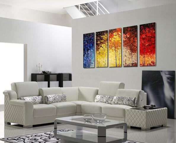 2018 abstract oil painting canvas huge modern decoration for Modern artwork for home