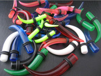 Wholesale Curved Ear Taper - Curve Ear Expander Taper Flesh Tunnel Ear Plugs Pirecing Body Jewelry 6sizes Mix 120pcs