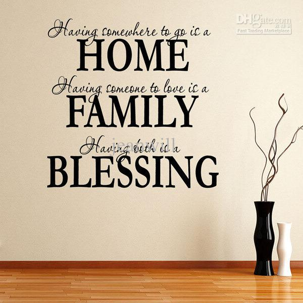 Home Family Blessing Wall Quote Decal Decor Sticker