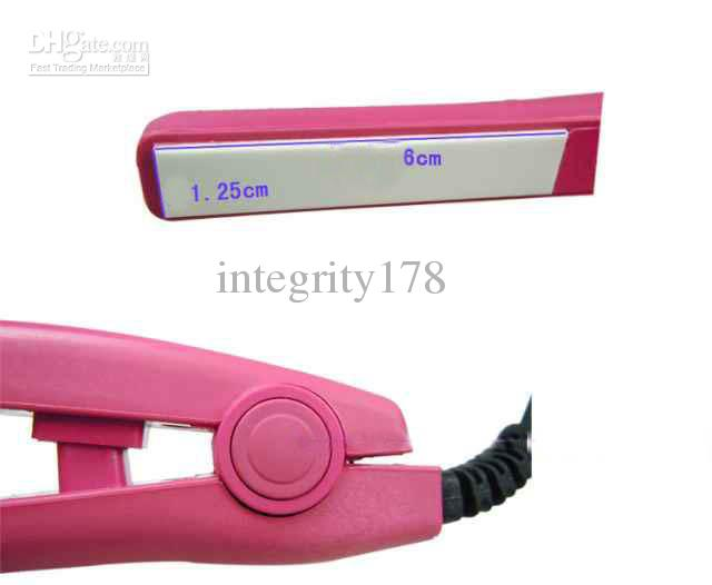 En düşük fiyat Saç Düzleştirici Seramik Düz Demir Düzleştirici Mini Protalbel, saç araçları. 20 adet / grup ücretsiz kargo