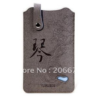 Wholesale Mofi Bag - Genuine MOFI Chinese GuQin Pattern Premium Leatherette Plug-in Sleeve Bag Cover Pouch for iPhone 4G