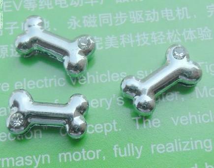 8mm um strass osso encantos de slides caber colarinho colar pulseira celular acessórios