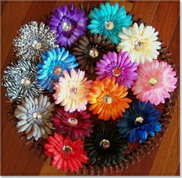 Wholesale Flower Girl Barrettes - Gerbera Daisy Flower with Clips,Baby Hair Bows with Alligator Grip,Baby Girls' Hair Accessories