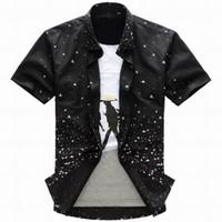 Wholesale Boys Singlets - Fashion Men Boys Casual Leisure Shirts Tops sark singlet black shirt dress shirts shirt dresses