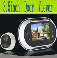 Wholesale Freeshipping inch Display Digital Peephole Viewer Video Door Bell MP Night Vision Camera