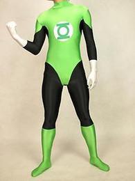 Wholesale Green Lantern Zentai - Wholesale --lycra spandex zentai superhero costume green lantern S-XXL