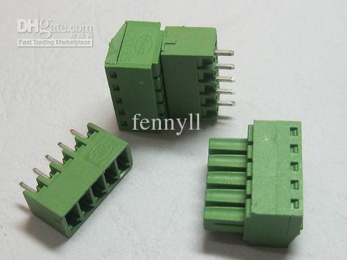120 Pcs Green 5pin 3.81mm Screw Terminal Block Connector Pluggable Type High Quality HOT Sale