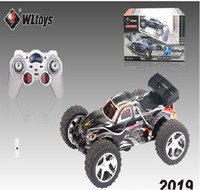 Wholesale HOT COOL Amazing RC truck WL High speed km hour RC Car RED BLUE amp Black