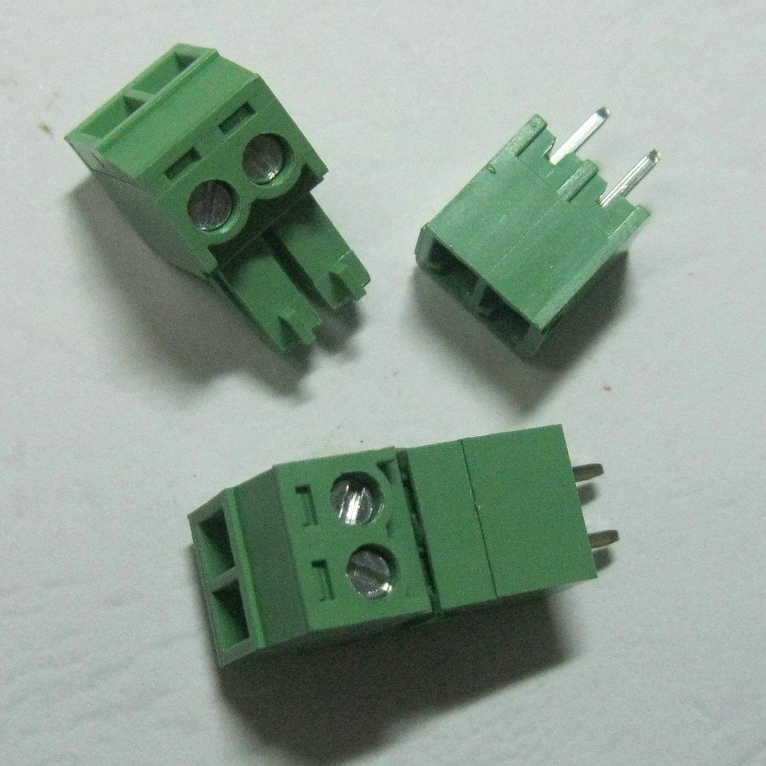Green 2pin 3 81mm Screw Terminal Block Connector Pluggable