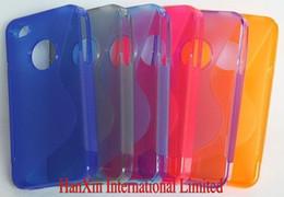 Wholesale Iphone 4s Tpu S Line - 10 pcs lot, TPU silicone S Line cover case for iphone 4 4S ,for iphone 4 4s soft tpu case ,free sh