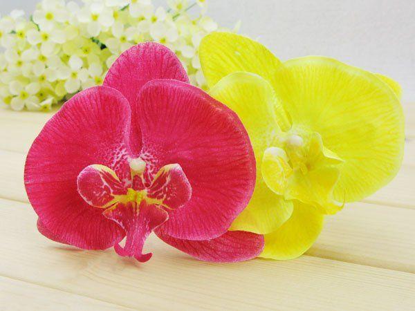 Orchidee künstliche Blumen-Haarclips Brauthawaii-Partei-Mädchen fascinator Haarschmuck Großhandel