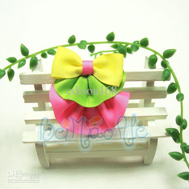 새로운 인기있는 공주 머리 장식 머리핀 아기 활 소녀 헤어 액세서리 머리카락은 모델 를 섞을 수 있습니다