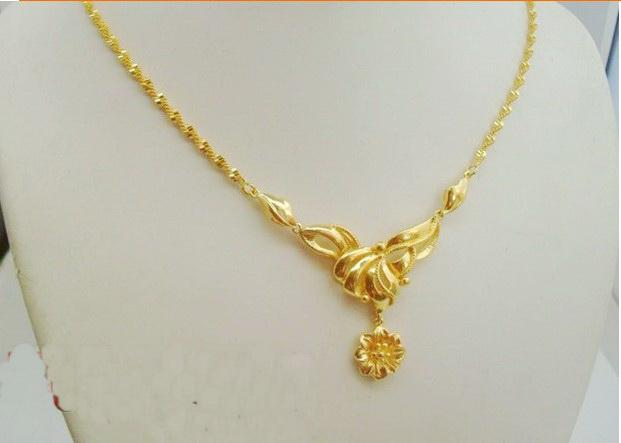 Wholesale alluvial gold necklace gold plated necklace wedding alluvial gold necklace gold plated necklace wedding necklace junglespirit Images