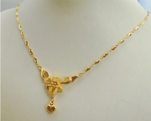 Wholesale Butterfly Flower Necklace Gold Plated Necklace Wedding