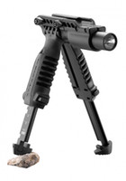 FAB Front Grip Foregrip Lampe torche Tactical Light Holder Mount Bipod pour 21mm Rifle Weaver Rails