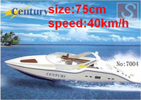 Большой 75 см RC Boat Century 7004 Super Power Remote Control Электрический EP RC Speedboat Racing Boats Model