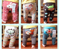 Wholesale Woolen Tights Boys - Free Shiping 18pcs lot Popular Baby Pants 36 colors Girls Boys Leggings Busha PP Pants Wear Children's Tights