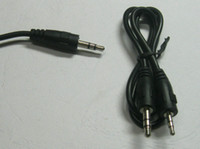 Wholesale 10 Nickel Plated mm to mm Stereo Plug Male Audio Cable cm m