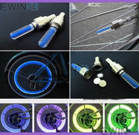 Wholesale Led Flashing Bulbs For Cars - 2 in 1 LED Flash Tyre Wheel Valve Cap Light Bulbs Lamp for Car Bike bicycle Motorbicycle 1200 pcs (600 pairs)
