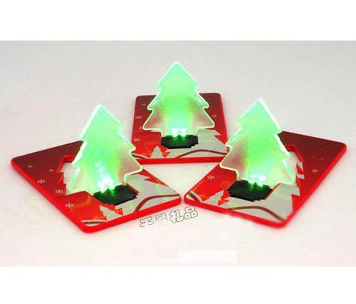 LED Light Bulb Card Novelty LED Card Light/Christmas Decoration Christmas tree Night Light/Pocket Light