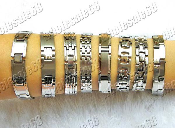 серебряные тона из нержавеющей стали звено цепи человек браслеты ювелирные изделия 8 шт.