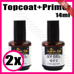 Wholesale Gel Uv Sticky - 14ml Non-sticky Top Coat Gel + 14ml Primer Base Gel Nail Art UV Gel Polish J03 for uv lamp Nail tips + Free Shipping