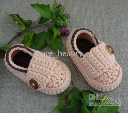 Bebek tığ ayakkabı ilk yürüteç ayakkabı çift taban 0-12 M 24 adet / pamuk ipliği özel Bebek Beşik Ayakkabı Vaftiz ayakkabı Ayakkabı