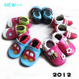 Wholesale Leather Baby Booties Canada - Many new styles Baby genuine leather sandals shoes SHOE booties,healthy sheep leather soft sole shoes for infants toddlers kids