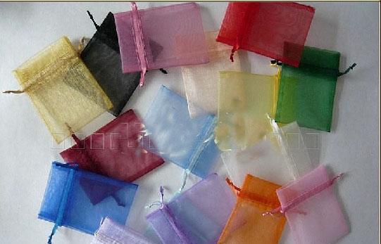 Mix Farben Schmuckschatulle 7 * 9 cm Organza Schmuck Ring Armbänder Beutel Geschenke Taschen Für Ring Hochzeitsgeschenke SD1